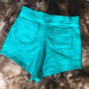 American Apparel Disco Shorts TEAL